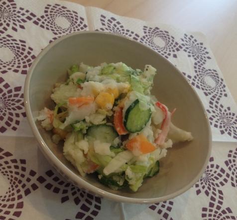 シャキシャキレタスのポテトサラダ