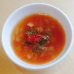 フレッシュトマトの簡単スープ2